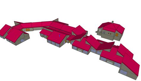 Réalisation maquette 3D d''une école primaire